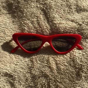 Topshop Red Cat Eye sunglasses